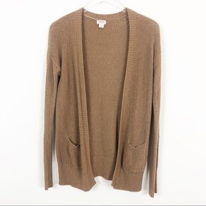 Mossimo Supply Co. Brown Knot Sweater